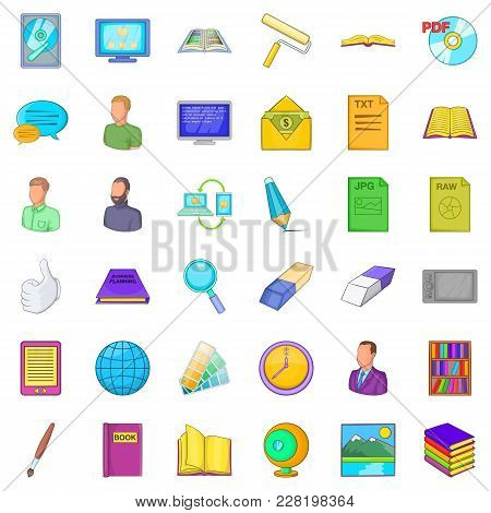 Proprietary Icons Set. Cartoon Set Of 36 Proprietary Vector Icons For Web Isolated On White Backgrou