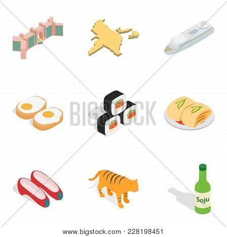 Expensive Hotel Icons Set. Isometric Set Of 9 Expensive Hotel Vector Icons For Web Isolated On White
