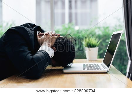 Businessman Failure Project Plan Deadline Serious Emotion And Depression Or Deadline At Office Room
