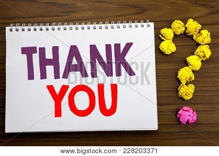 Conceptual Hand Writing Caption Inspiration Showing Thank You. Business Concept For Gratitude Thanks