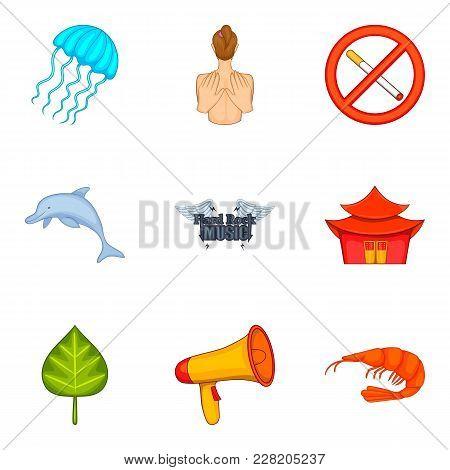 Stuffy Icons Set. Cartoon Set Of 9 Stuffy Vector Icons For Web Isolated On White Background