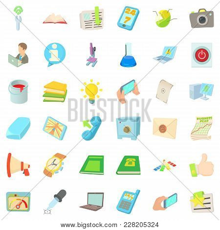 Position Icons Set. Cartoon Set Of 36 Position Vector Icons For Web Isolated On White Background
