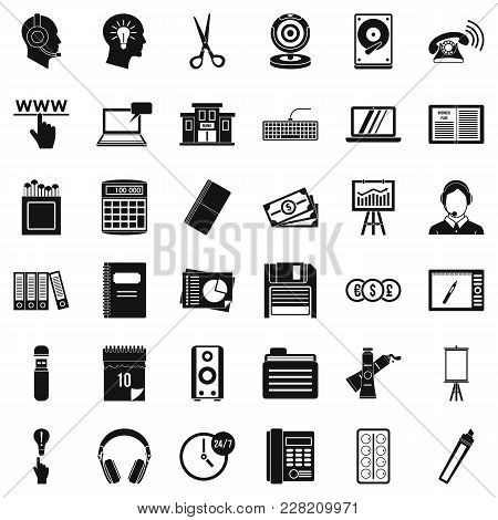 Hard Copy Icons Set. Simple Set Of 36 Hard Copy Vector Icons For Web Isolated On White Background