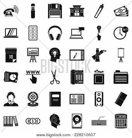 Record Keeping Icons Set. Simple Set Of 36 Record Keeping Vector Icons For Web Isolated On White Bac