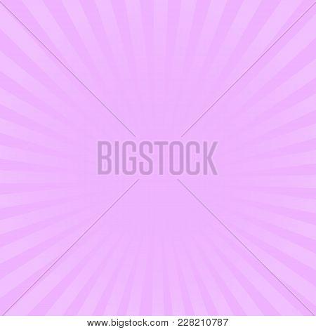 Sunburst Pink Rays Pattern. Radial Sunburst Ray Background Vector Illustration.