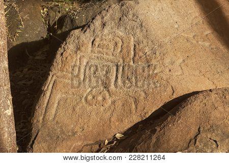 Petroglyphs On Ometepe Island In Nicaragua. Managua, Nicaragua.