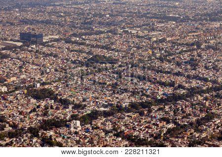 Aerial View Of Mexico City. Mexico City, Mexico.