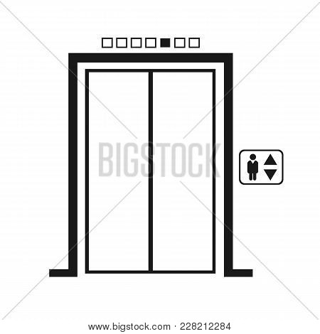 Elevator Icon Vector. Flat Icon Elevator. Flat Vector Illustration For Web Banner, Web And Mobile. V