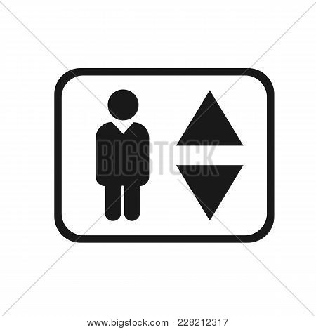 Elevator Icon Vector. Flat Icon Elevator. Flat Vector Illustration For Web And Mobile. Vector Elevat