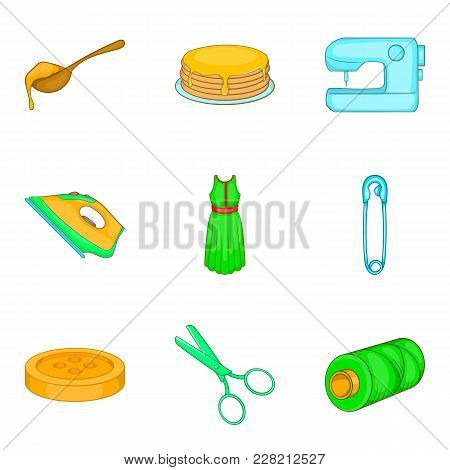 Asset Icons Set. Cartoon Set Of 9 Asset Vector Icons For Web Isolated On White Background