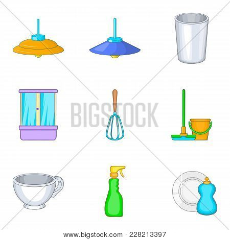 Personal Room Icons Set. Cartoon Set Of 9 Personal Room Vector Icons For Web Isolated On White Backg