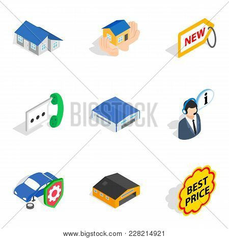 Value Icons Set. Isometric Set Of 9 Value Vector Icons For Web Isolated On White Background