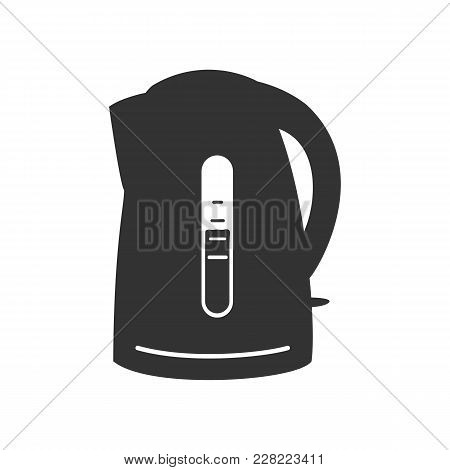Electric Kettle Icon. Electric Kettle Vector Isolated On White Background. Flat Vector Illustration