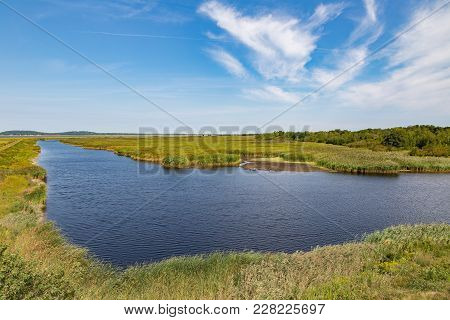 Saltwater Marsh At Parker River National Wildlife Refuge On Plum Island In Newburyport, Ma.