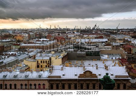 St. Petersburg, Russia - November 11. 2013. View Of City From St. Isaac's Cathedral