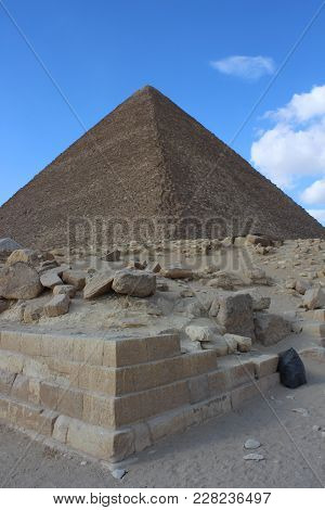 Pyramid of Cheops in all its glory from an unusual angle