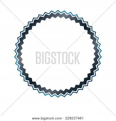 Award Vintage Circular Frame With Clear Copy Space Made As Art Medallion Design Decorated With Curve