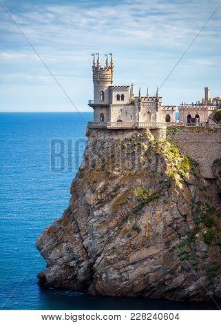 Castle Swallow's Nest On The Rock In Black Sea, Crimea