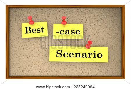 Best-Case Scenario Bulletin Board Planning 3d Illustration