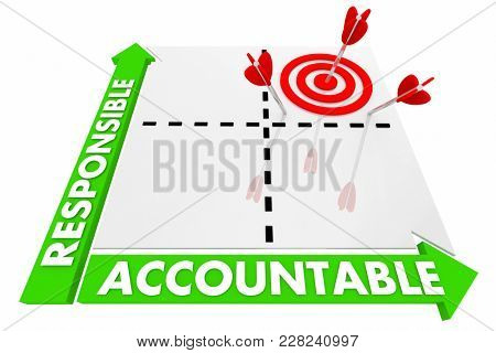 Responsible Accountable Matrix Best Choice 3d Illustration