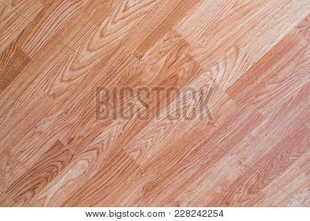 Wood floor made of oak material.