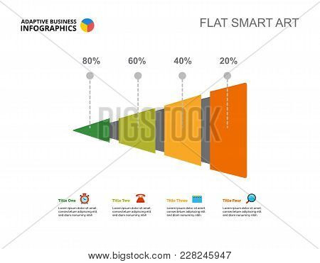 Four Steps Growth Percentage Chart. Business Data. Report, Review, Design. Creative Concept For Info