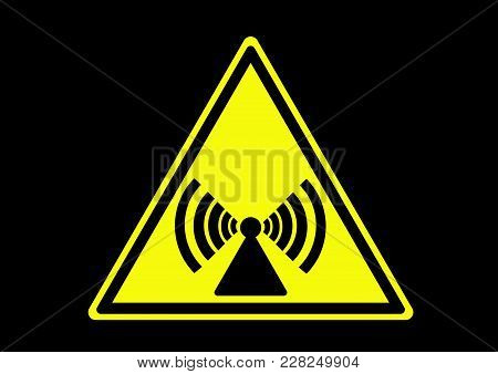 Non Ionizing Radiation Area. Prohibited Sign With Illustration