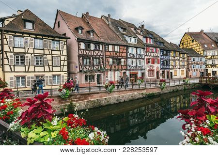 Houses Along The River Lauch, Colmar, France