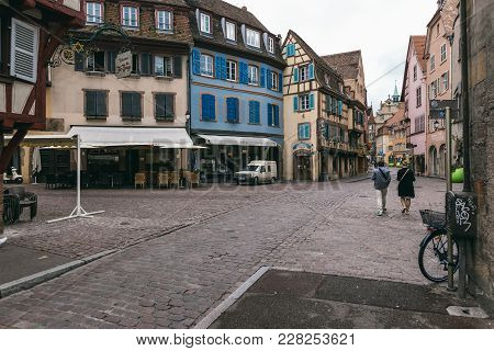 Streets Of The Village Of Colmar