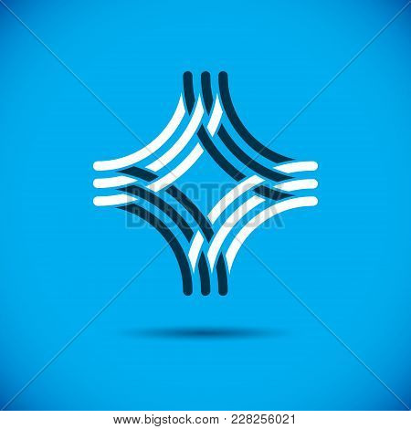 Vector Abstract Geometric Shape Best For Use As Business Innovation Logo, Symbol. Modern Logothype.