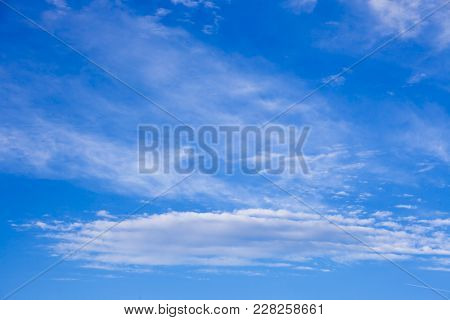 Beautiful Blue Sky With Clouds Background. Sky Clouds. Sky With Clouds Weather Nature Cloud Blue. Bl