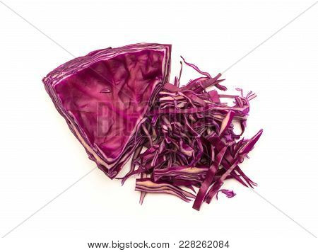 Shredded Red Cabbage Top View