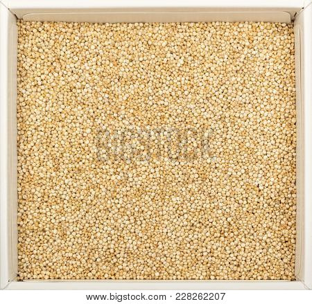 Quinoa In A Paper Bowl Isolated