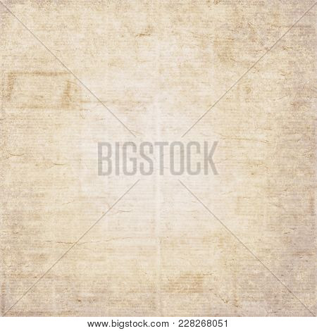 Vintage Old Newspaper Texture Background. Blurred Vintage Newspaper Background. A Blur Unreadable Ol