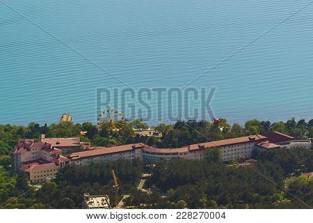 Russia, Gelendzhik, Krasnodar Region - April 30.2017: Top View Of The Modern Sanatorium And Health C