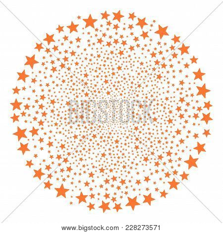 Fireworks Star Cycle Source. Element Cycle Done From Random Fireworks Star Items. Vector Illustratio