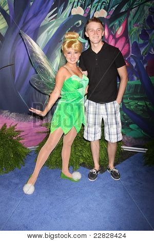 LOS ANGELES - AUG 19:  Tinkerbell, Jason Dolley at the D23 Expo 2011 at the Anaheim Convention Center on August 19, 2011 in Anaheim, CA