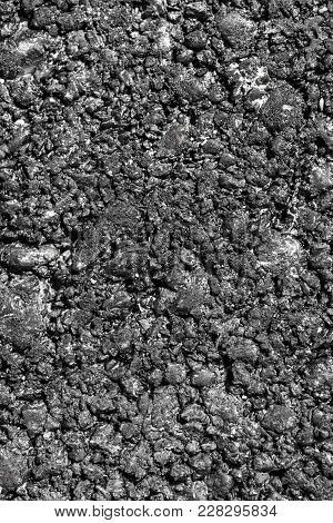 Fresh Black Asphalt As Background . Photo Of An Abstract Texture
