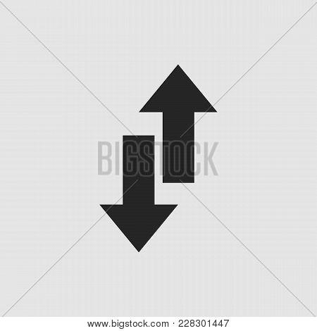 Exchange Icon. Exchange Vector Isolated. Flat Vector Illustration In Black. Eps