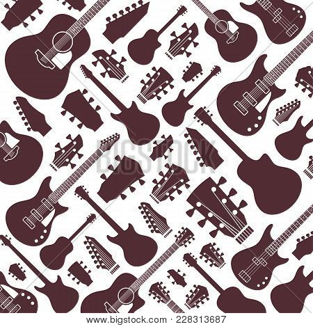 Vector Guitars Pattern Or Background