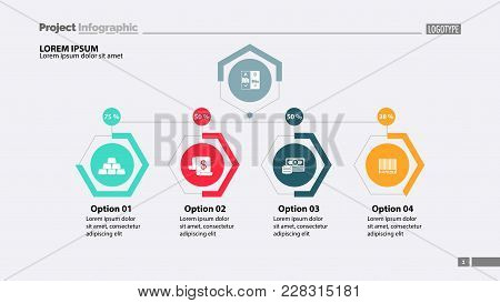 Four Options Workflow Slide Template. Business Data. Graph, Chart, Design. Creative Concept For Info