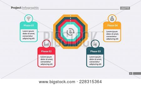 Four Phase Process Chart With Descriptions. Element Of Chart, Diagram, Presentation. Concept For Ann