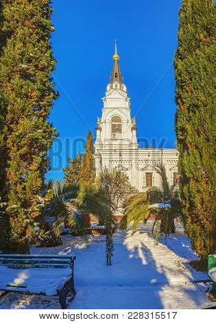 Sochi, Russia - January 27, 2016: The Cathedral Of Michael The Archangel.