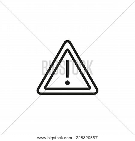 Line Icon Of Exclamation Mark In Triangle. Attention Sign, Hazard, Caution. Warning Signs Concept. C