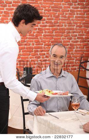 Man dining