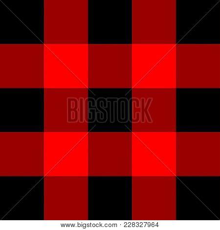 Scottish Cage, Red Celtic. Scottish Red Checkered Background. Lumberjack Plaid. Vector Illustration