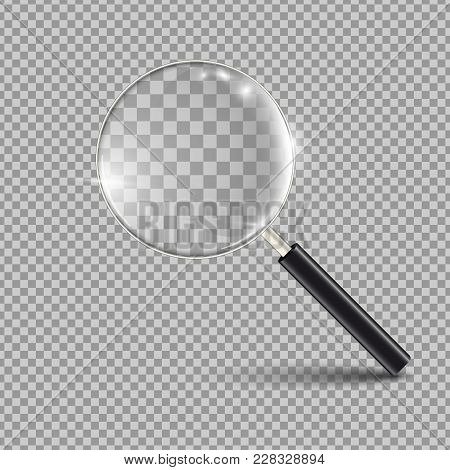 Loupe, Magnifying Glass Isolated On A Transparancy Background. Stock Vector