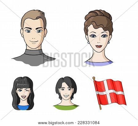 Different Looks Of Young People.avatar And Face Set Collection Icons In Cartoon Style Vector Symbol