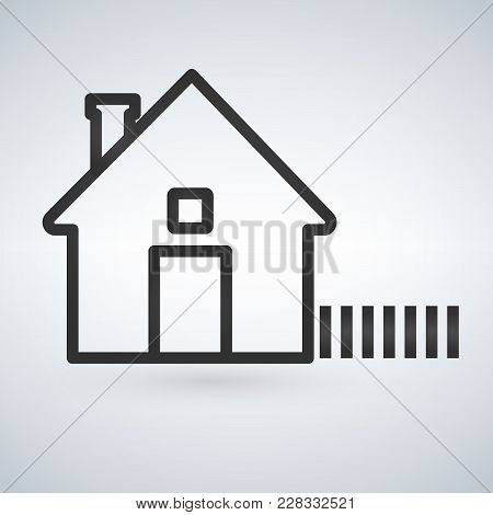 Outline Home Icon Isolated On Light Background. House Pictogram. Line Homepage Symbol For Your Web S