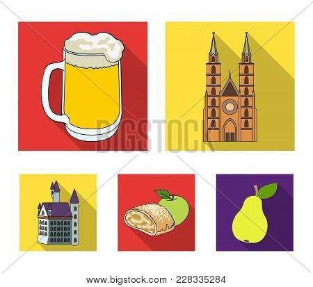 Architecture, Building, Cathedral, And Other  Icon In Flat Style.germany, History, Cooking, Icons In